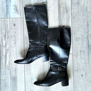 Salvatore Ferragamo | Tall Black Riding Boots